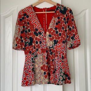 🎁 3/$20 SALE Zara trafaluc daisy top